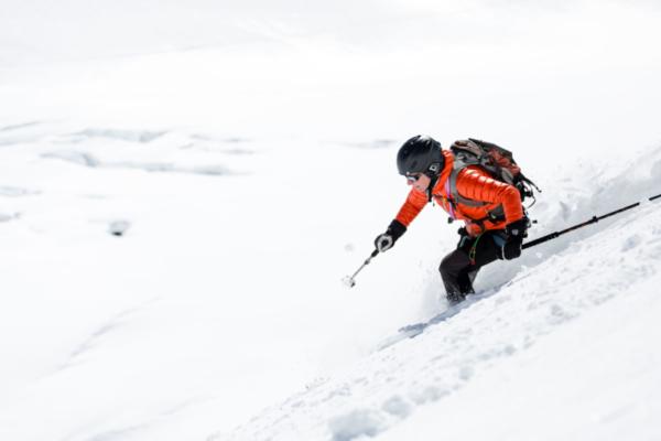 skister, off-piste, actiefoto